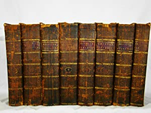 Harrison's British Classicks. First edition, 1785-7, eight volumes in 18th century full tree calf.
