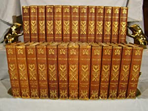 The Works of Washington Irving Bibliophile Edition limited to 1000 in 26 volumes ¾ morocco art no...