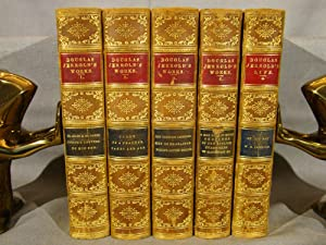 Works of Douglas Jerrold. 5 volumes in half polished calf gilt.