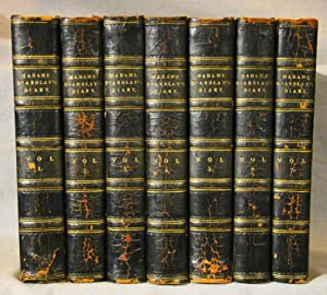 Diary and Letters of Madame D'Arblay. Seven volumes in half black calf, 1842-46.