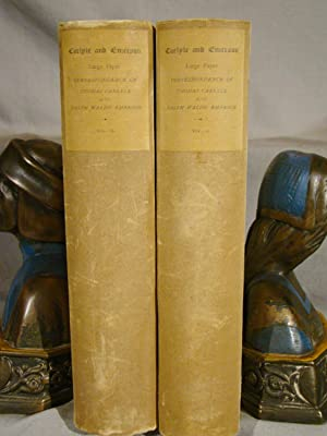 The Correspondence of Thomas Carlyle and Ralph Waldo Emerson. One of 250 copies, unopened.