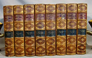 The Popular History of England. First American Edition in eight volumes, complete set in half cal...