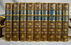 The Works of George Eliot. Nine volumes in uniform ¾ calf.