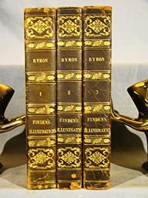 Finden's Illustrations of the Life and Work of Lord Byron. 1833-34, full period calf gilt, 126 en...