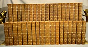 The Works of Charles Dickens 34 volumes in three-quarter polished calf gilt by Riviere & Son plus...