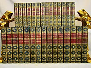 The Novels of James Fenimore Cooper. 29 volumes in half blue calf 1867-1869.