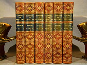 The History of England. 6 volumes full red calf gilt, 1898, prize gift binding.