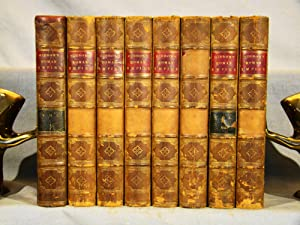 The History of the Decline and Fall of the Roman Empire. Half calf & marbled boards, eight volume...