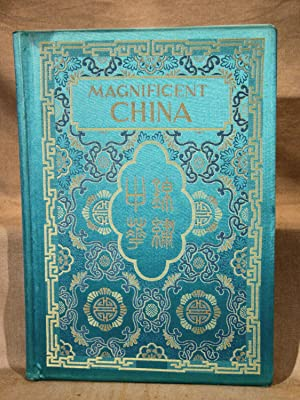 Magnificent China. Fine 1972 folio in decorated silk with color photography including three 8-pag...