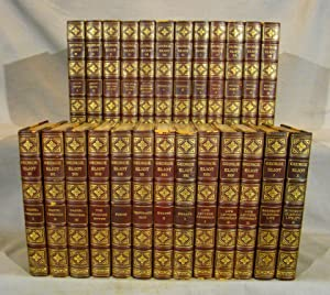 The Writings of George Eliot. Twenty-Five Volumes, Warwickshire Edition in ¾ crushed morocco gilt...