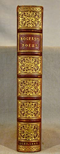 Poems. Very attractive full red hard grain morocco, gilt extra, 1842.