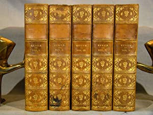 The Poetical Works of Lord Byron with a Memoir. Ten Volumes in five three-quarter calf gilt, 1860.