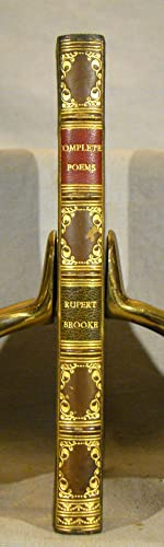 The Complete Poems of Rupert Brooke. Signed fine binding by Riviere & Son of full blue calf gilt.