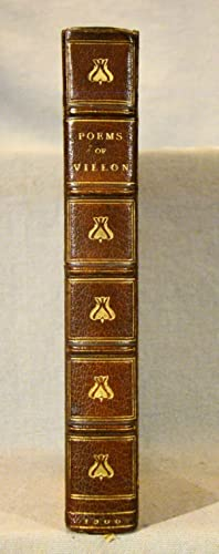 The Poems of Master Francois Villon of Paris. Fine signed binding of three-quarter brown niger mo...