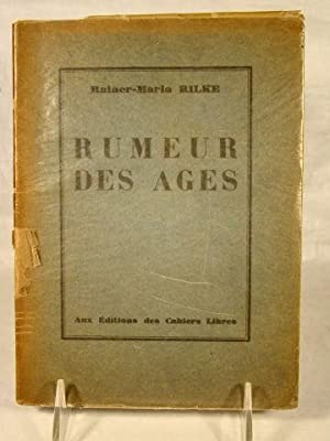 Rumeur Des Ages. Traduction de Maurice Betz. One of 830. Artist Emlin Etting's Copy, signed.