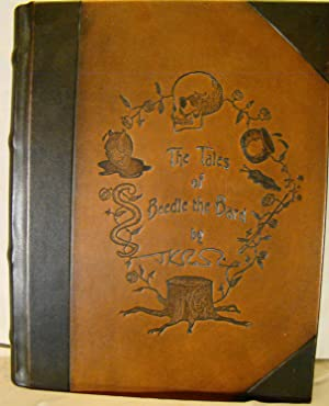 Tales of Beedle the Bard. Collector's Edition, silver metal mounted book in velvet sack in clamsh...