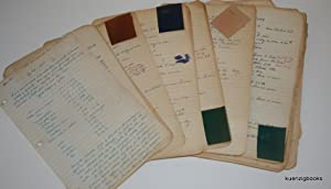 Manuscript Archive with formulae/processes for Leather Dressing, Dyeing, Tanning from the 1940s a...