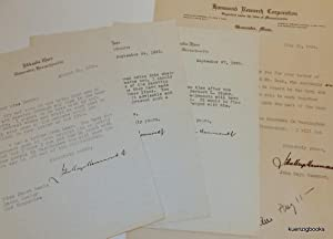 Small archive of material related to John Hays Hammond Jr. including signed letters and a detaile...