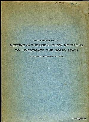 Proceedings of the Meeting on the Use: Pauli, R. ;