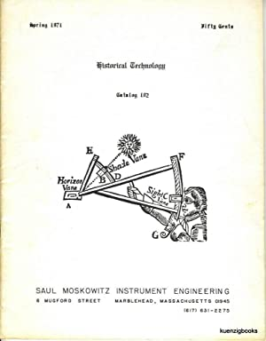 Historical Technology, Inc. Catalogue 102 Spring 1971: Moskowitz, Saul