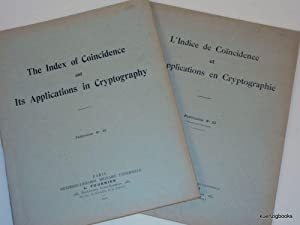 The Index of Coincidence and Its Applications: Friedman, William F.