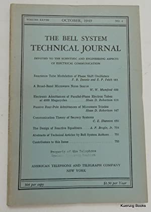 Communication Theory of Secrecy Systems [ IN The Bell System Technical Journal, Volume XXVIII, No...