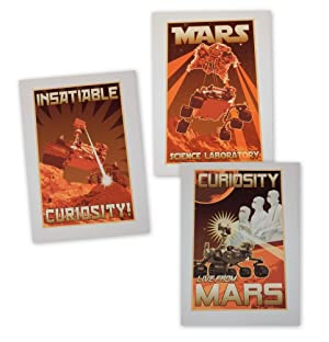 A set of three MARS exploration motivational work posters (one of twelve sets produced)