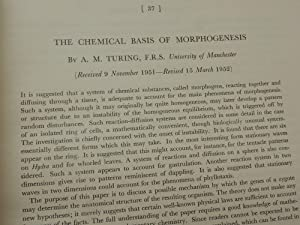 The Chemical Basis of Morphogenesis