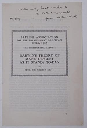 The Presidential Address. Darwin's Theory of Man's Descent as it Stands To-Day [ British Associat...