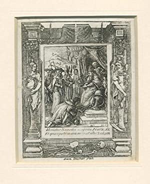 THE DANCE OF DEATH. Plate IV. The Pope Crowning an Emperor