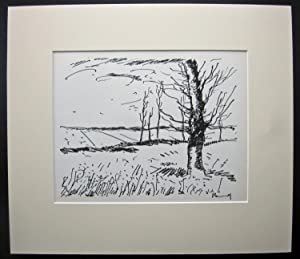MAURICE VLAMINCK Original Lithograph [The Valley of the Avre]