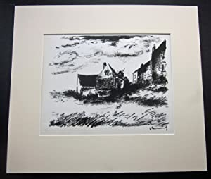 MAURICE VLAMINCK Original Lithograph [The Potiniere at Rueil]