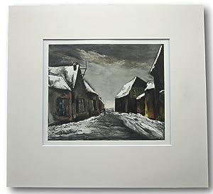 "MAURICE VLAMINCK Lithograph; ""Allainville under snow ""1946.: Sorlier, Charles. Vlaminck, ..."