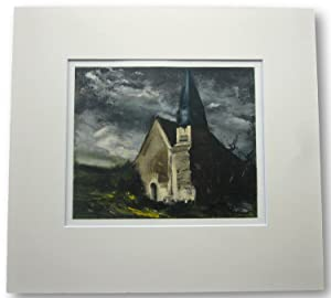 MAURICE VLAMINCK Lithograph Church at St Lubin De Cravant. 1934