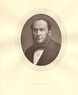 Sir Michael Costa, Original 1883 Photographic Portrait