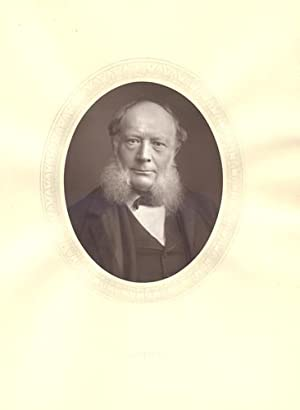 Charles William Siemens,Original 1883 Photographic Portrait .