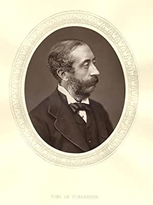 The Earl Of Carnarvon.Original 1880 Photographic Portrait .President of the Society of Antiquities.