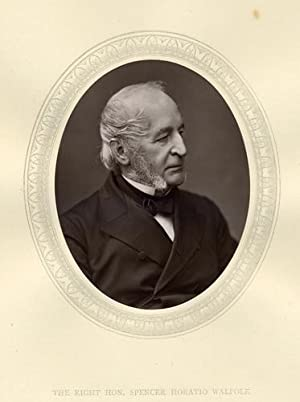 Spencer Horatio Walpole: Original 1876 Photographic Portrait of the Right Hon.