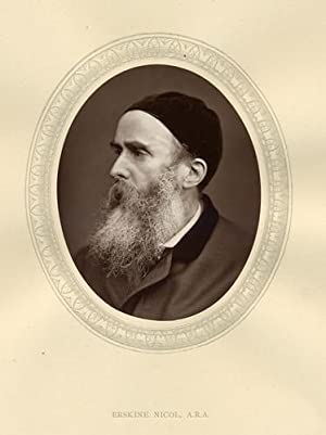 Erskine Nicol Esq.A.R.A.,Original 1880 Photographic Portrait.