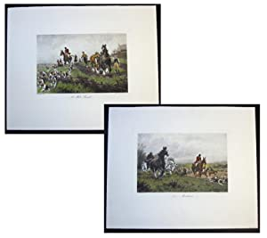 A fine pair of Fox- Hunting Prints c1900 with original hand colouring