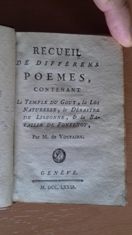 Recueil De Différens Poemes Contenant Le