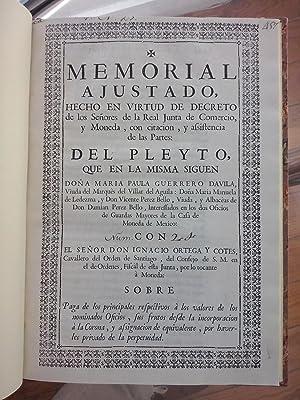 Oficio de Guarda Mayor de la Casa de la Moneda de México]. Memorial ajustado hecho en virtud...