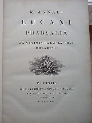 Pharsalia. Ex optimis exemplaris emendata: Lucano, Marco Anneo