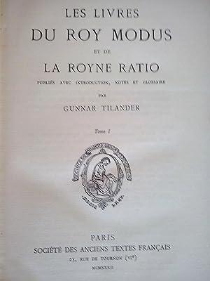 Caza] Les livres du Roy Modus et: Tilander, Gunnar.