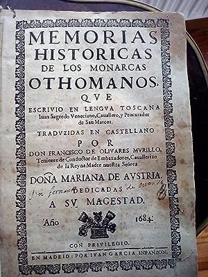 Turquía] Memorias historicas de los monarcas othomanos,: Sagredo, Juan
