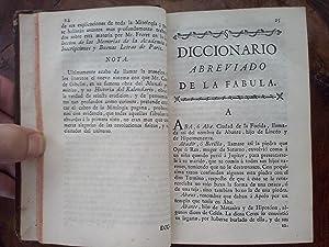 Diccionario abreviado de la fabula, para la inteligencia de los Poetas, Pinturas y Estatuas, cuyos ...