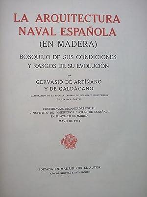 La arquitectura naval española (en madera). Bosquejo: Artiñano y de