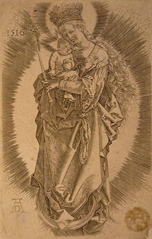 Maria mit Zepter und Sternenkrone. Kupferstich: Dürer, Albrecht (1471