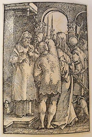 Christus vor Kaiphas. Holzschnitt.: Beham, Hans Sebald