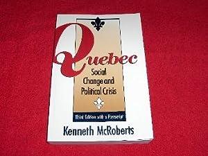 Quebec Social Change : Social Change and: McRoberts, Kenneth
